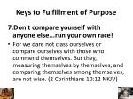 keys to fulfillment of purpose6