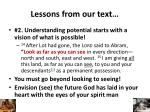 lessons from our text1
