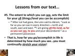 lessons from our text4