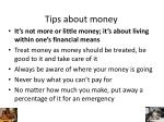 tips about money