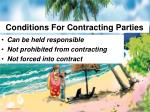 conditions for contracting parties