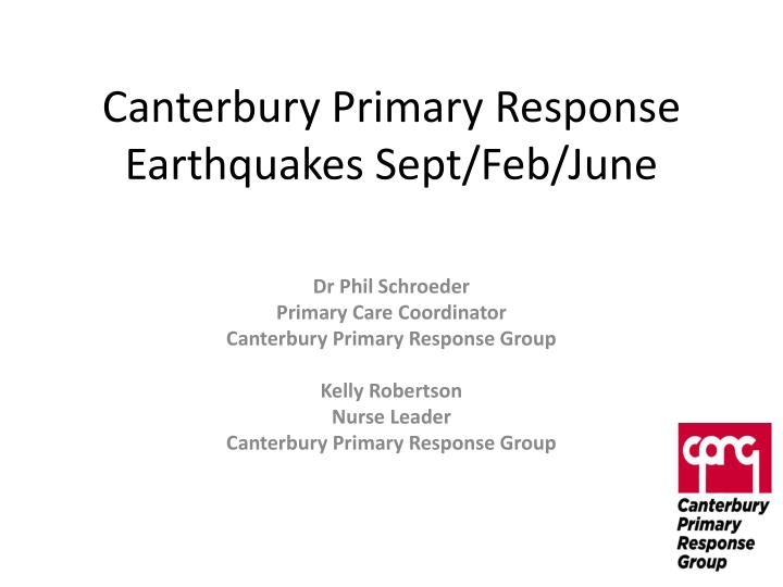 canterbury primary response earthquakes sept feb june n.