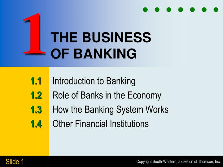 the business of banking n.