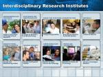 interdisciplinary research institutes1