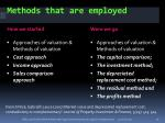 methods that are employed
