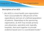 integrator accountable care organization
