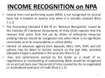 income recognition on npa