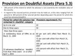 provision on doubtful a ssets para 5 3