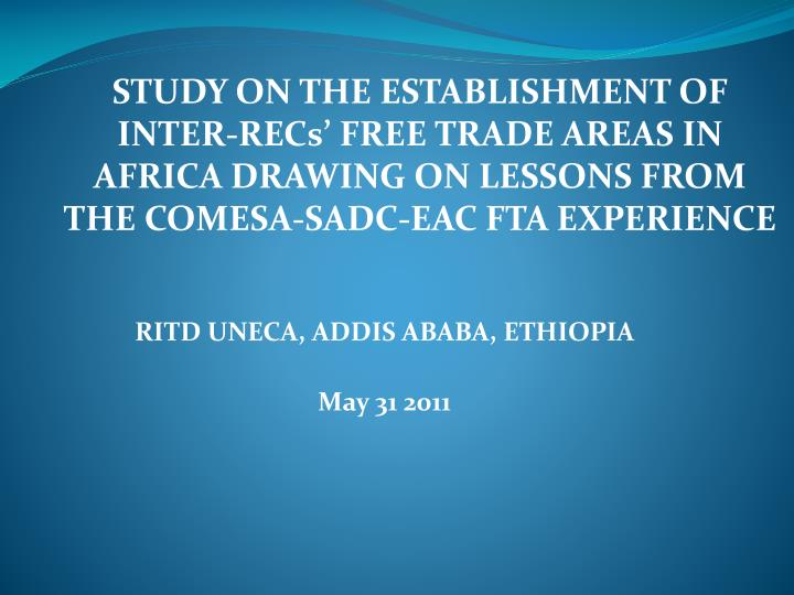ritd uneca addis ababa ethiopia may 31 2011 n.