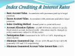 index crediting interest rates