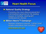 heart health focus