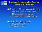 rates of hypertension control in the u s are low