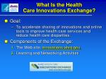 what is the health care innovations exchange
