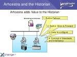 arhcestra and the historian
