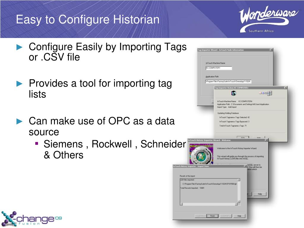 PPT - Solutions with Wonderware Historian and Active Factory Client