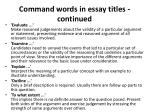 command words in essay titles continued1