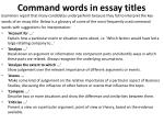 command words in essay titles