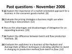 past questions november 2006