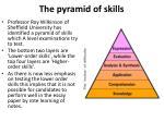 the pyramid of skills