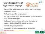 future perspectives of nijyu maru campaign