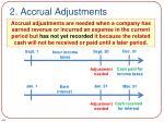 2 accrual adjustments