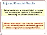 adjusted financial results