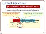 deferral adjustments1