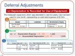 deferral adjustments4
