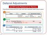 deferral adjustments5