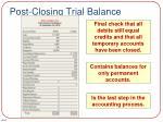 post closing trial balance