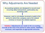 why adjustments are needed