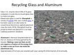 recycling glass and aluminum