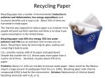 recycling paper
