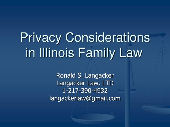 privacy considerations in illinois family law n.
