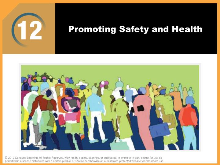 promoting safety and health n.