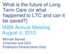 what is the future of long term care or what happened to ltc and can it be saved