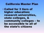 california master plan