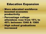 education expansion