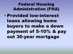 federal housing administration fha