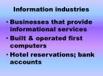 information industries