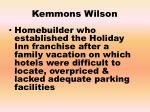 kemmons wilson