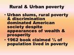 rural urban poverty