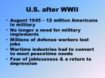 u s after wwii