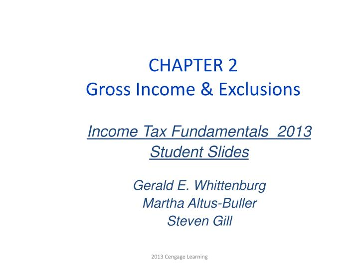 chapter 2 gross income exclusions n.