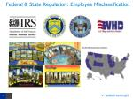 federal state regulation employee misclassification