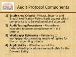 audit protocol components