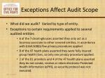 exceptions affect audit scope