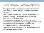 online financial consumer behavior