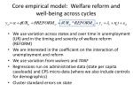 core empirical model welfare reform and well being across cycles