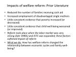 impacts of welfare reform prior literature